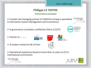 Philippe LE TERTRE  IS  Governance  Consultant