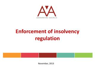 Enforcement of insolvency regulation