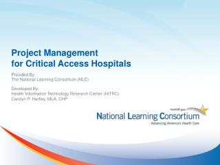 Project Management  for  Critical Access Hospitals