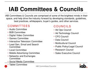 IAB Committees & Councils