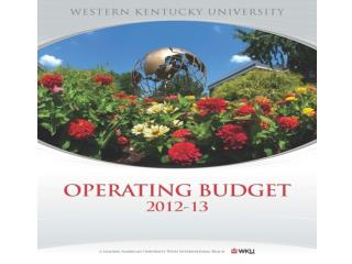FY2012-13 Budget Documents