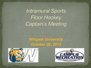 Intramural Sports Floor Hockey Captain's Meeting