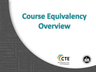 Course Equivalency Overview