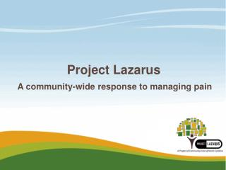 Project Lazarus  A community-wide response to managing pain