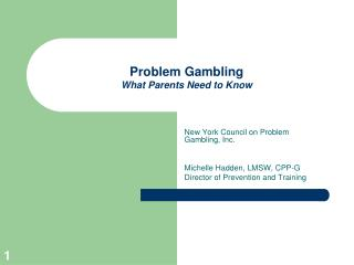 Problem Gambling  What Parents Need to Know
