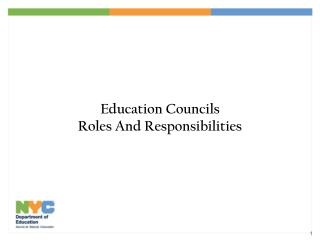 Education Councils Roles And Responsibilities