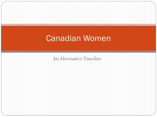 Canadian Women