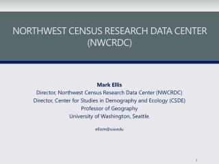 Northwest Census Research Data Center (NWCRDC)