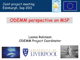 Leonie Robinson ODEMM Project Coordinator