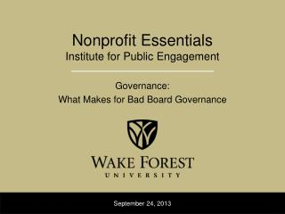 Nonprofit Essentials Institute for Public Engagement