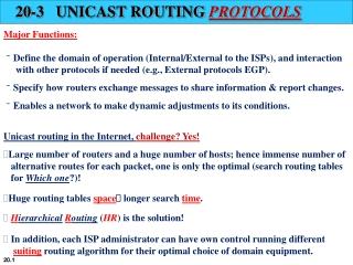 routage  protocoles