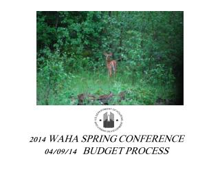 2014 WAHA SPRING CONFERENCE 04/09/14   BUDGET PROCESS