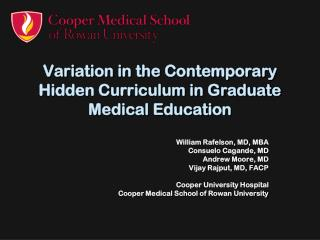 Variation in the Contemporary Hidden Curriculum in Graduate Medical Education