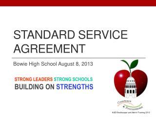 Standard Service Agreement
