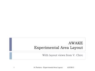 AWAKE  Experimental Area Layout
