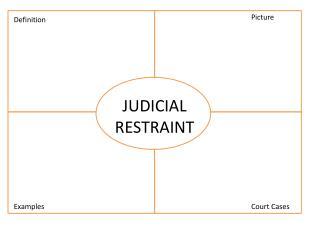 JUDICIAL RESTRAINT