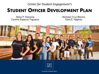 Student Officer Development  Plan