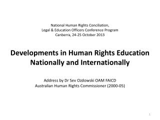 Why Human Rights Education (HRE)?