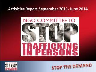 Activities Report September 2013- June 2014
