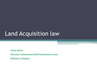 Land  Acquisition law