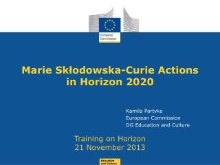 Marie S k?odo wska -Curie  Actions in Horizon 2020
