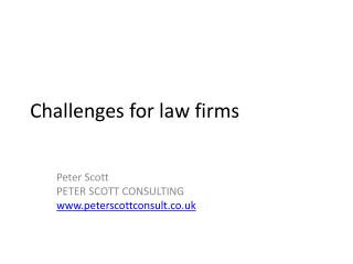 Challenges for law firms