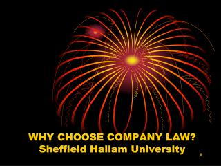 WHY CHOOSE COMPANY LAW? Sheffield Hallam University