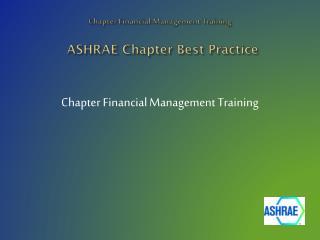 ASHRAE Chapter Best Practice