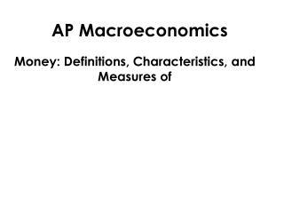 AP Macroeconomics