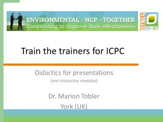 Train the trainers for ICPC