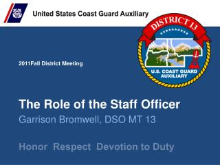 The Role of the Staff Officer