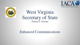 West Virginia Secretary of State Natalie E. Tennant