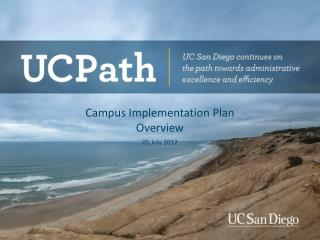 Campus Implementation Plan  Overview