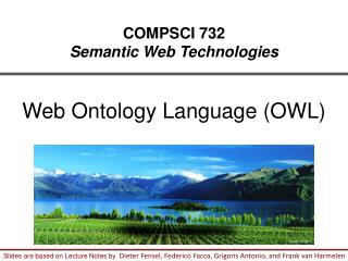 COMPSCI 732 Semantic Web Technologies