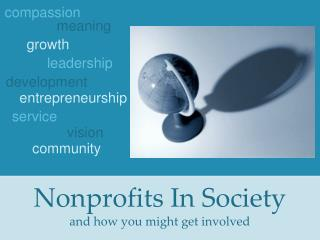 Nonprofits In Society and how you might get involved