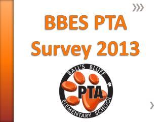 BBES PTA Survey 2013