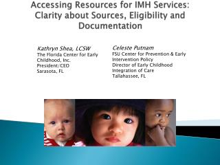 Accessing Resources for IMH Services: Clarity about Sources, Eligibility and Documentation