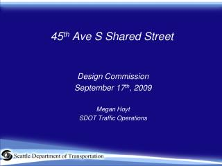 45 th  Ave S Shared Street