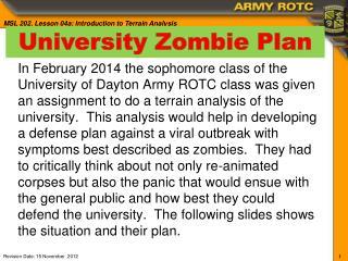 University Zombie Plan