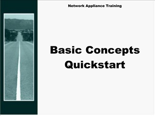 network appliance training        basic concepts quickstart