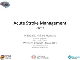Acute Stroke Management Part 2