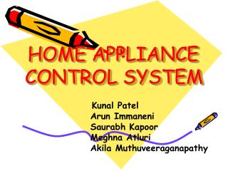 home appliance   control system