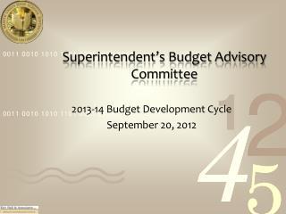 Superintendent's Budget Advisory  Committee