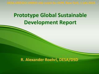 Prototype Global Sustainable Development Report