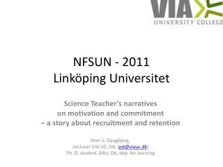 NFSUN - 2011 Linköping Universitet