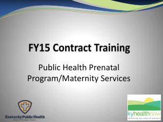 FY15 Contract Training