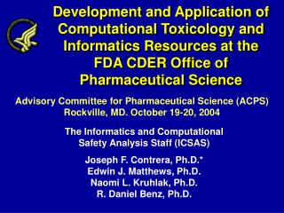 Development and Application of Computational Toxicology and ...
