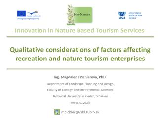 Innovation  in  Nature Based Tourism Services