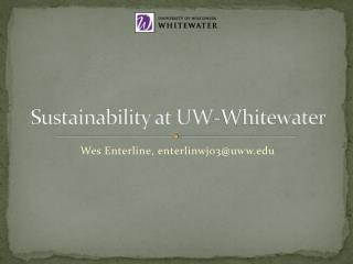 Sustainability at UW-Whitewater