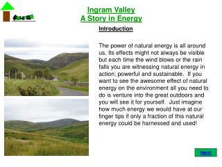 Ingram Valley A Story in Energy